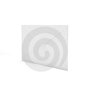 3d Rendered Envelope. Three-dimensional,  Isolated Royalty Free Stock Images - Image: 15011999