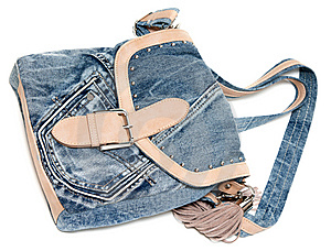 Feminine Jeans Bag Royalty Free Stock Photo - Image: 15013165