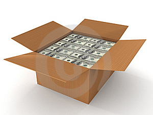 100 Dollar Bills In Cardboard Stock Image - Image: 15016151