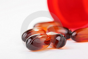Oval Tablet Stock Image - Image: 15017091
