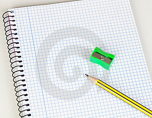 Sharp Pencil And Sharpener Stock Photography - Image: 15018542