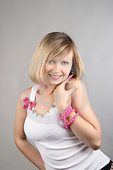 Portrait Of Merry Pretty Glamourous Girl Royalty Free Stock Photography - Image: 15018857