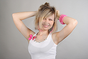 Portrait Of Merry Pretty Glamourous Girl Stock Photo - Image: 15018940