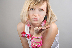 Portrait Of Merry Pretty Glamourous Girl Stock Photography - Image: 15018962