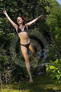 Joyful Jump Stock Photography - Image: 15019992