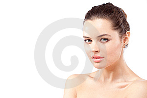 Closeup Portrait Of Brunette Royalty Free Stock Photo - Image: 15020855