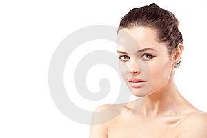 Closeup Portrait Of Brunette Royalty Free Stock Photo - Image: 15020855