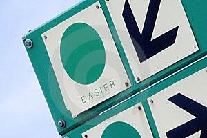 Ski Sign Stock Photography - Image: 15023262