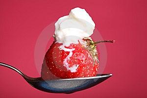 Strawberry And Cream Royalty Free Stock Photo - Image: 15023835