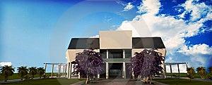 Render Of Cinema Building Stock Photo - Image: 15024130