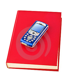 Mobile Phone On Book Stock Images - Image: 15024664