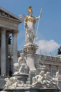 Pallas Athene In Front Of Austrian Parliament Stock Image - Image: 15028011