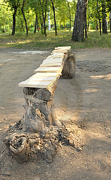 Wooden Park Bench Stock Images - Image: 15028764