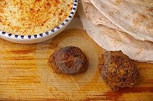 Hummus Dip With Falafel Stock Image - Image: 15028791
