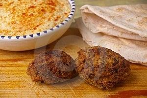 Hummus Dip With Falafel Royalty Free Stock Photography - Image: 15028807