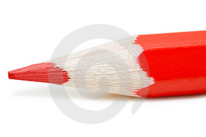 Red Pencil Isolated On White Background Royalty Free Stock Photography - Image: 15028877