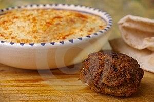 Hummus Dip With Falafel Stock Images - Image: 15028884