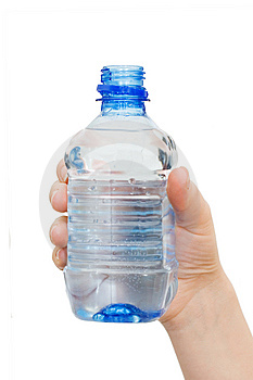 Hand With Bottle Of Water Royalty Free Stock Photo - Image: 15028925
