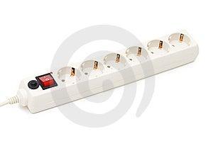 Cuerda De Extensión De La Potencia Con El Interruptor Encendido-apagado Fotos de archivo - Imagen: 15029263