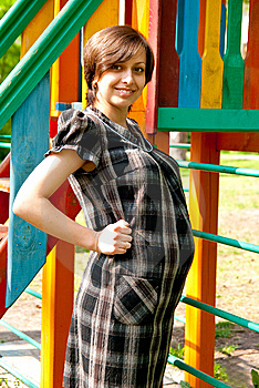 Pregnant On Playground Stock Images - Image: 15030534