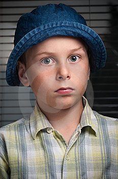 Boy With Hat Stock Photography - Image: 15033242