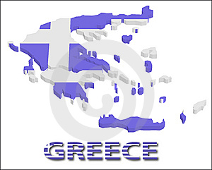Greece Territory With Flag Texture. Stock Photos - Image: 15034333