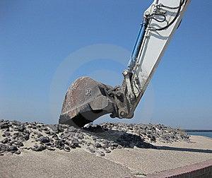 Excavating Machine Stock Photo - Image: 15034970