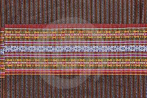Texture On Thai Hand Made Silk Royalty Free Stock Photos - Image: 15035698