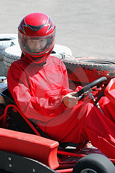 Smiling Young  Racer Stock Photography - Image: 15036682