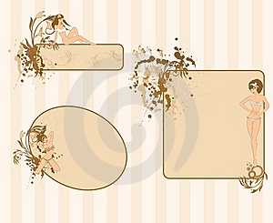Grunge Floral Abstract Banners Royalty Free Stock Photo - Image: 15036955