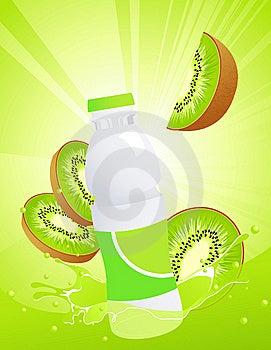 Kiwi Juice Bottle Stock Photography - Image: 15037582