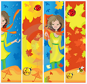 Autumn Banners Stock Image - Image: 15037731