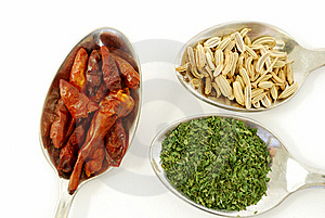 Parsley, Paprika And Fennel Seeds Stock Image - Image: 15038541
