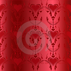 Red Hearts Pattern Royalty Free Stock Image - Image: 15039176