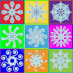 Snowflake Set Stock Photo - Image: 15042510