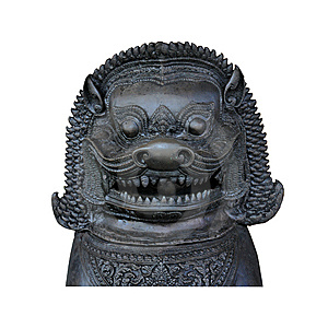 Metal Bronze Oriental Lion Stock Photos - Image: 15045153