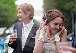 Young Bride Getting Wedding Greetings Royalty Free Stock Photography - Image: 15045877