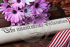 Declaration Stock Image - Image: 15047131