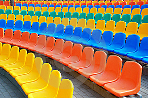 Empty Plastic Seats Royalty Free Stock Photography - Image: 15049767
