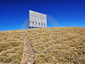 Ad Billboard On The Hill Stock Images - Image: 15051764