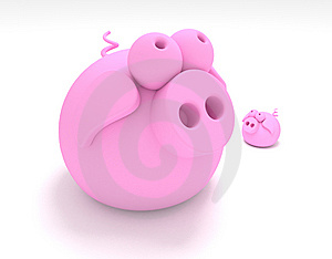 Pig & Pigglet Royalty Free Stock Images - Image: 15052799