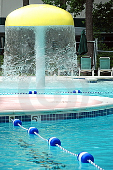 Fun Pool Water Feature Royalty Free Stock Photography - Image: 15054047