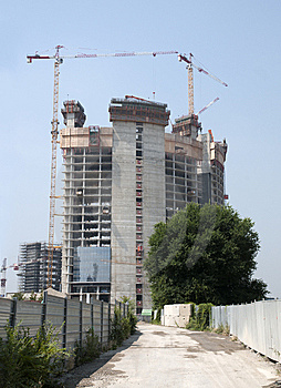 Construction Of A Skyscraper (Milan, Italy) Royalty Free Stock Images - Image: 15054499