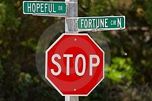 Hopeful Drive And Fortune Circle Stock Image - Image: 15054741