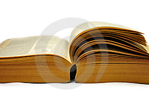Old Book Isolate Stock Photo - Image: 15055830
