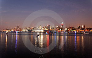 The Mid-town Manhattan Skyline Royalty Free Stock Image - Image: 15056046