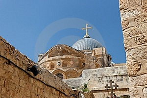 Dome Of The Church Of The Holy Sepulchre In Jerusa Royalty Free Stock Images - Image: 15056499