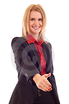 Woman Giving Hand For Handshake Royalty Free Stock Photography - Image: 15057287