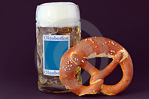 Pretzels And Beer Stock Photo - Image: 15057990