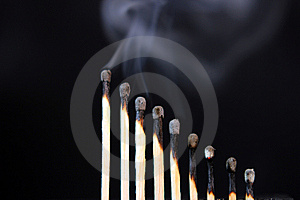 Spent Free Of Matches Royalty Free Stock Photos - Image: 15058048